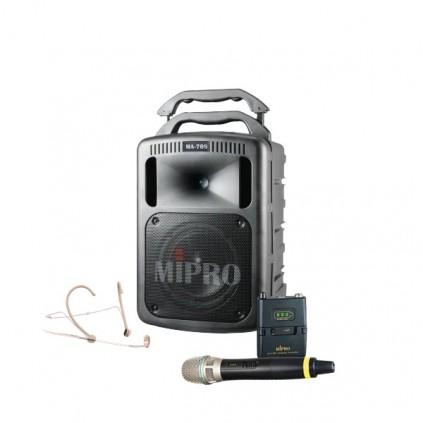 Mipro MA-708PA + Mipro MRM-58 + Mipro ACT-58T Lommesender (Digital)+ Mipro ACT-58H Håndmikrofon/Sender Digital + Mipro MU-53HNS