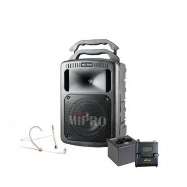 Mipro MA-708EXP + Mipro MRM-58 + Mipro ACT-58TC Lommesender Digital (Ladbar) + Mipro MU-53HNS + Mipro MP-8 lader