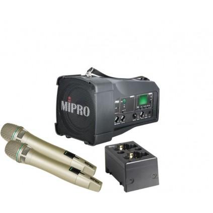 Mipro MA-100DG + Mipro ACT-58HC x 2 + Mipro MP-8 lader
