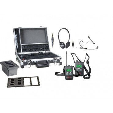 Mipro MTG-100 komplett system 32, racklader ISM (863~865MH)